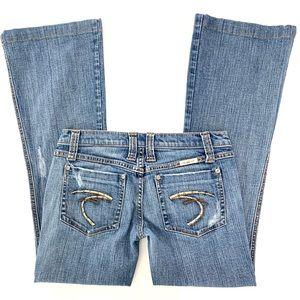 Frankie B. Jeans - Frankie B Distressed Flare Jeans Size 28X29